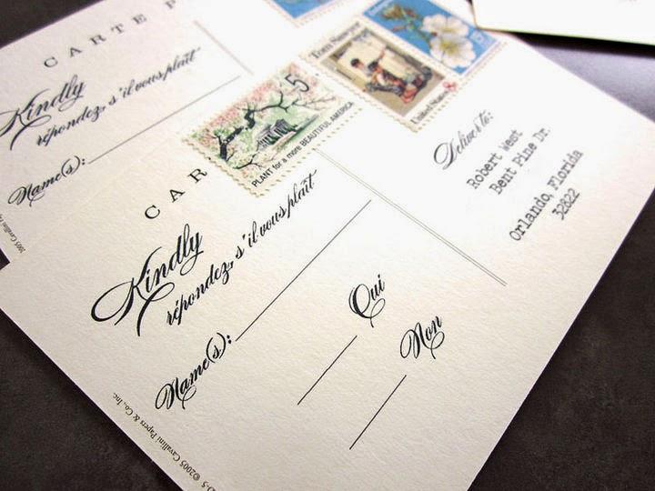 Thiệp cưới dạng Postcard lạ lẫm bắt mắt 4