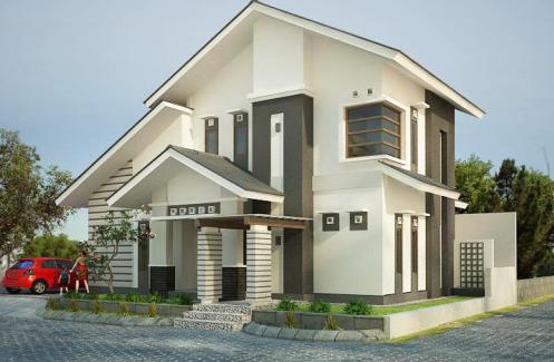 desain rumah minimalis modern 2 lantai - metro properti