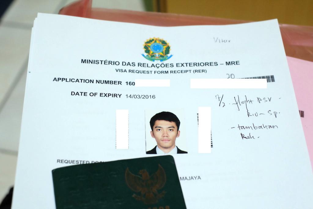 Pengalaman Mengurus Visa Brazil di Jakarta - Visa Brazil RER