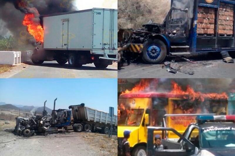 Capturan a 12 criminales  por bloqueos y quema de locales en Michoacán