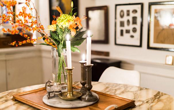 bougeoirs anciens en cuivre appartement brocante décoration