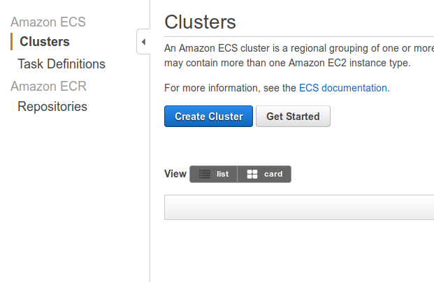 Run like Hell: AWS: Running a docker-image with ECS