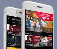 Source: Singtel. Phones showing the Cast app at work.