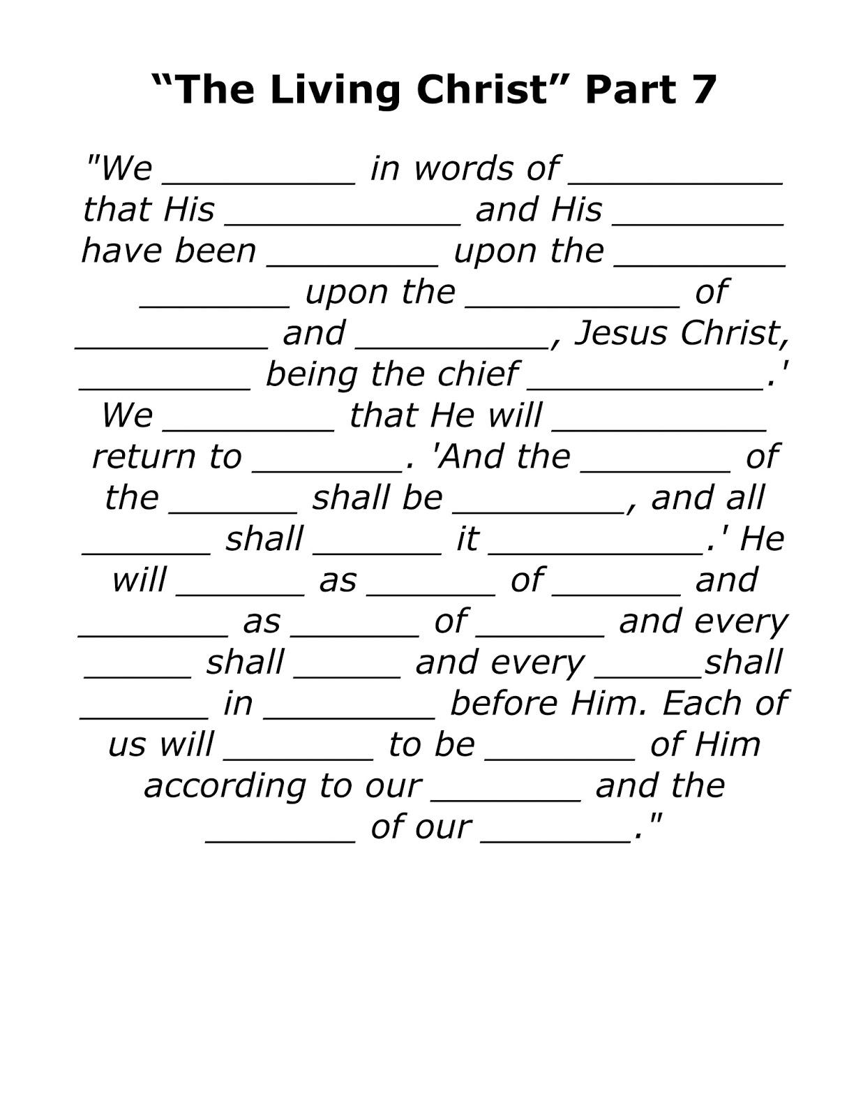 The Living Christ Songs The Living Christ Part 7