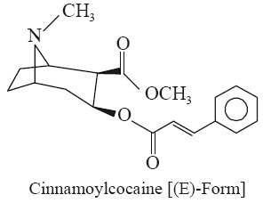 Cinnamoyl Cocaine  Synonyms Ecgonine Methyl Ester; Cinnamoylcocaine; Cinnamoyl-methylecgonine;