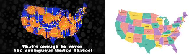 Nintendo Splatoon Summer Splatdown United States map borders