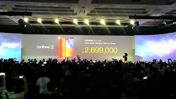 Harga ASUS Zenfone 2 Termurah dengan harga Rp. 2.699.000