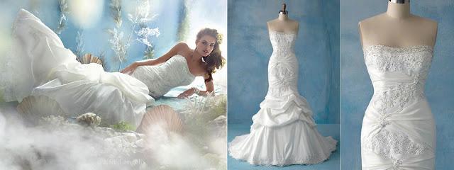 vestido noiva princesa disney wedding dress pequena sereia ariel justo drapeado tomara que caia moderno diferente luxuoso