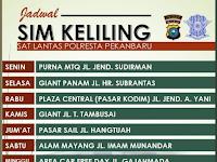 Jadwal SIM Keliling Pekanbaru | Agustus 2018