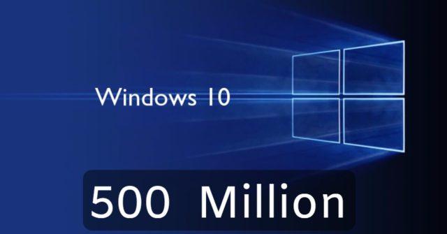 Windows 10 sudah mencapai 500 Juta pengguna