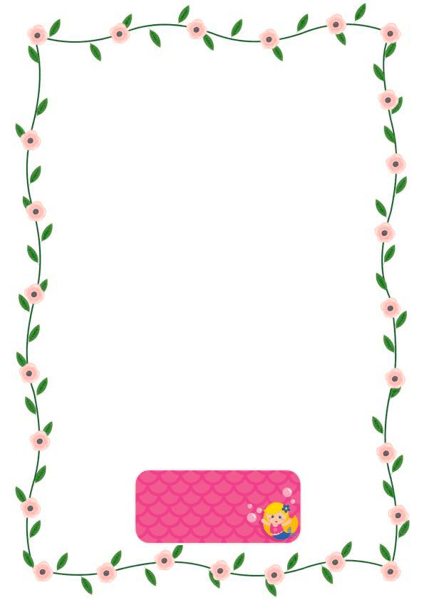 caratulas para cuadernos para niños y niñas de primaria de sirenita