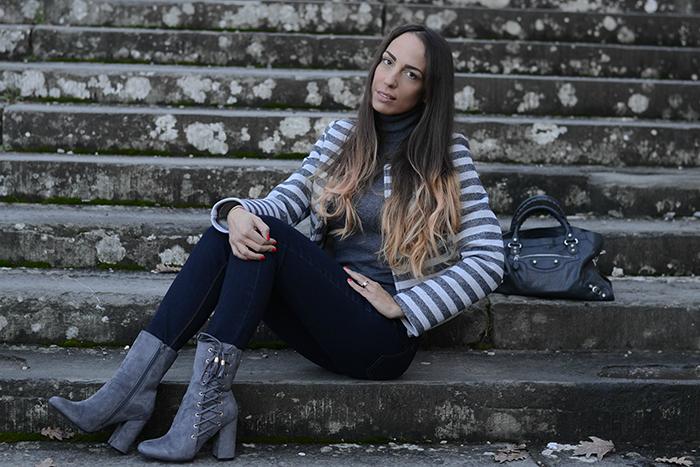 outfit sfumature grigio