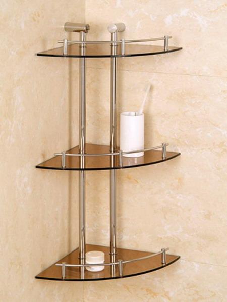 Small Bathroom Corner Glass Shelf (17 Image) | Wall Shelves