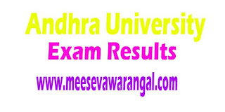 Andhra University Law 5th Years 4th Sem April-2016 Exam Results