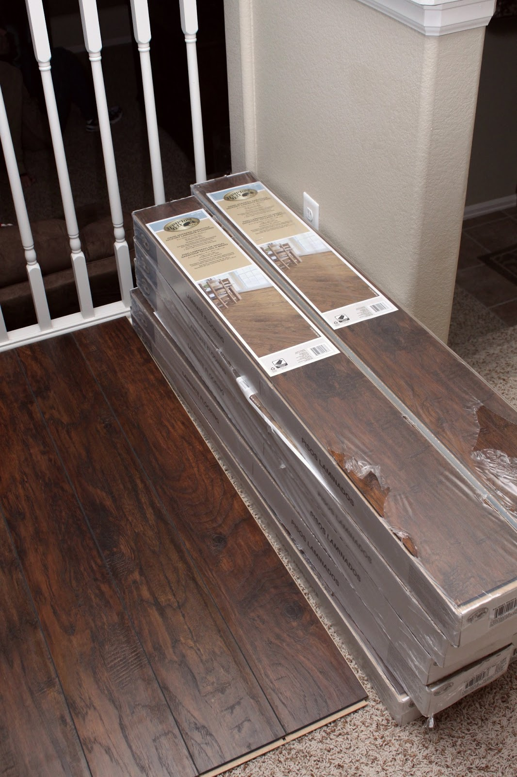 Our modern homestead diy laminate wood flooring project - What is laminate flooring ...