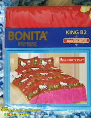 Sprei Bonita Hello Kitty King Ukuran 180