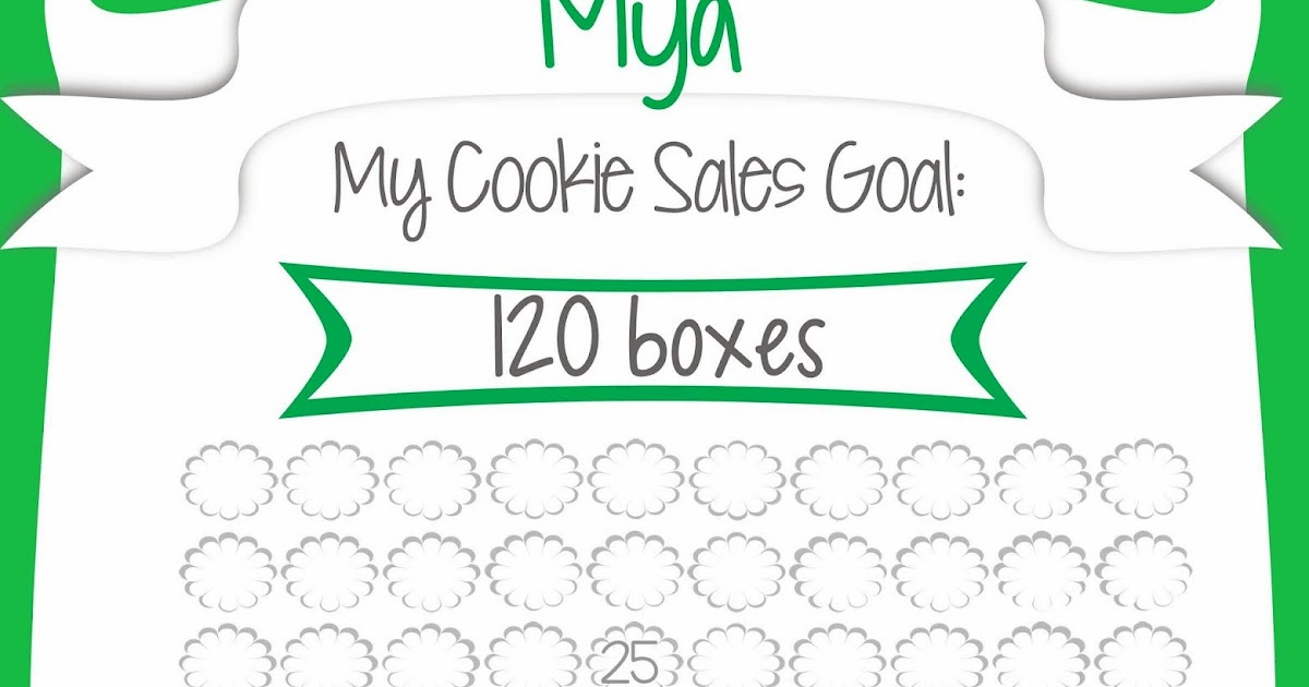 Fashionable Moms: Girl Scout Cookie Sales - Free Printable Goal Poster ...