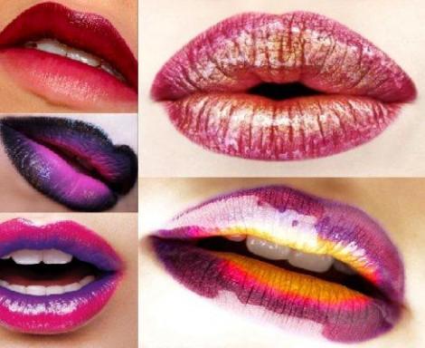 Maquillaje Labios Bicolor Glitter
