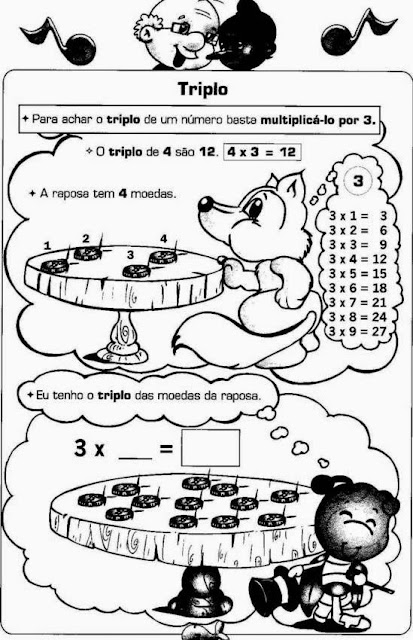 Atividades de matemática do 4° ano