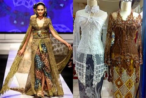 13 Gambar Model Baju Kebaya Gaun Untuk Orang Gemuk Terbaru 2016