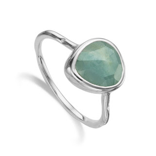 Modern Green Jewellery - Monica Vinader Aquamarine Ring