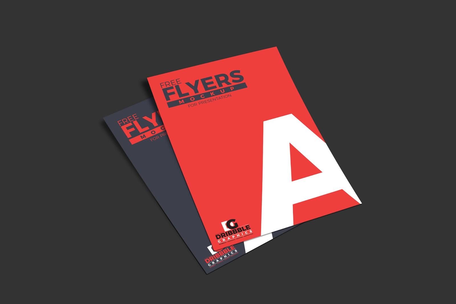 Free PSD Flyer Mockup for Presentation, best free flyer mockup