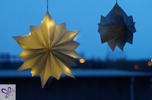 Weihnachtssterne aus Papiertüten, Butterbrottüten, basteln, kaidso Adventskalender 2017