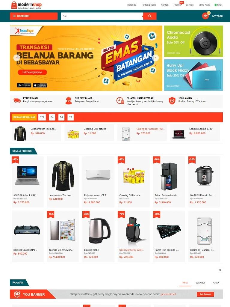Template blogspot bán hàng chuẩn seo Modern Shop