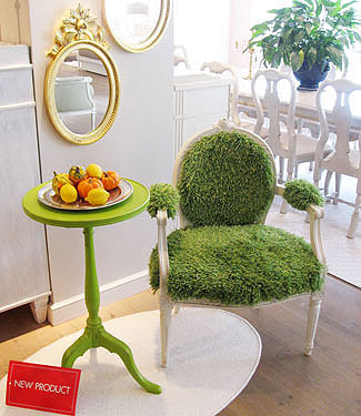 Diseño de silla con pasto