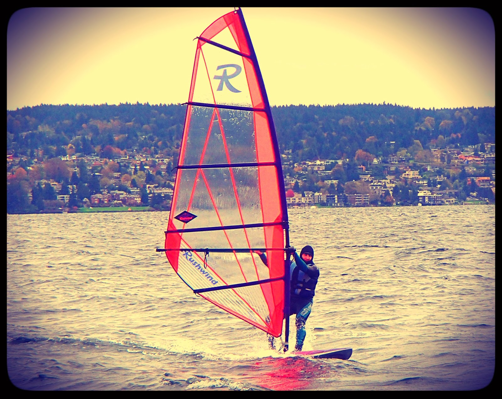 Windsurfing at Magnuson Park in Seattle