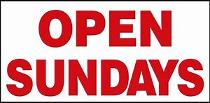 open on sundays