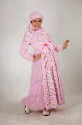 Model Baju Muslim keke Brokat Anak Perempuan Terbaru