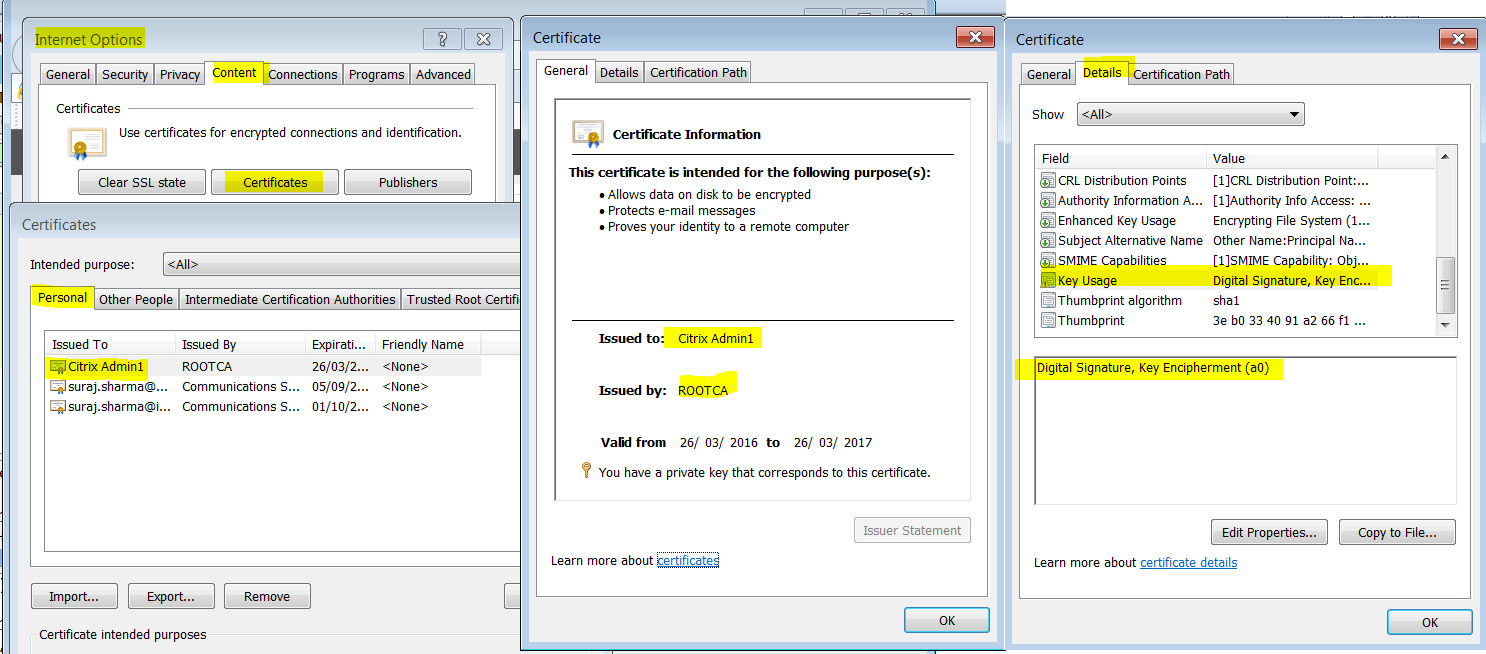 My home netscaler lab netscaler pkinit single sign to kerberos 1 issue and install a user certificate from the same ca which issued the web server certificate the certificate should be installed on the test laptop xflitez Gallery