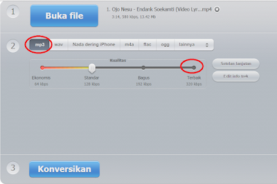 konversi file MP4 ke MP3