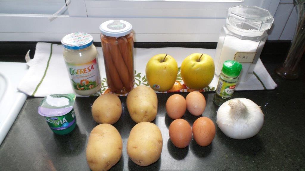 Ingredientes de la ensalada alemana