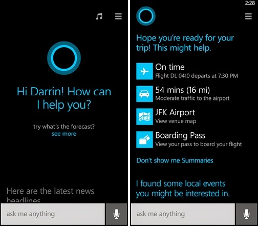 Cortana, Cortana app, Cortana for Windows Phone 8.1, Windows Phone 8.1, Microsoft unveils Cortana, mobile,