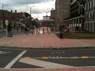 Children having a water fight in Bogotá: in other parts of Colombia they're fighting to find water right now.