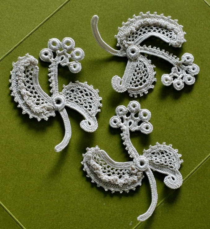 irish crochet detals
