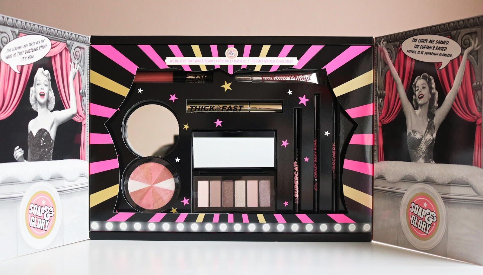 in fact you may as well chuck out your make up bag and restock it because youve got everythin in this kit that youll need to create a gorgeous look this