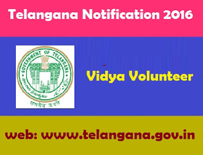 Govt of Telangana job Recruitment 2016 Vidya Valunteers District Wise selections