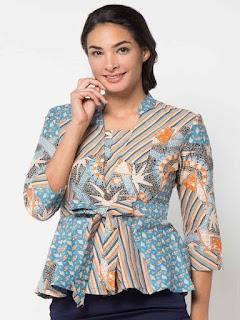 model baju batik atasan remaja modern