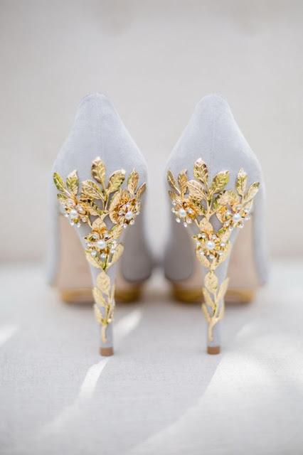 zapatos novia dorados