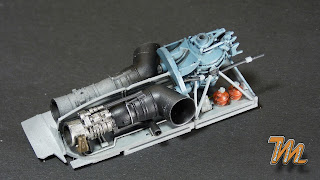 Mi24A, scale model, engine bay