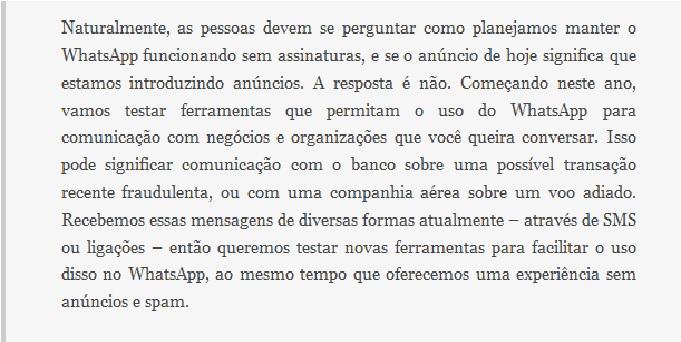 Blognetto Whatsapp Não Vai Mais Cobrar Assinatura Anual