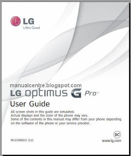 LG Optimus G Pro Manual