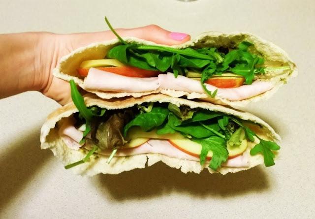 Pesto Turkey and Gruyere Pita Sandwich recipe