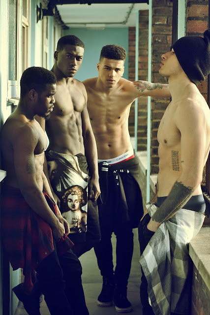 Nicquan Taylor |  Leonardo Taiwo | Omari Lewis Dixon |  Nahel Drici | shirtless boys