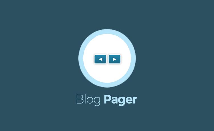 Membuat Blog Navigation dengan Icon Arah Panah