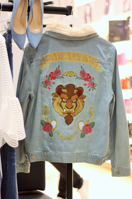 Minkpink Disney Beauty and the Beast Embroidered Denim Jacket