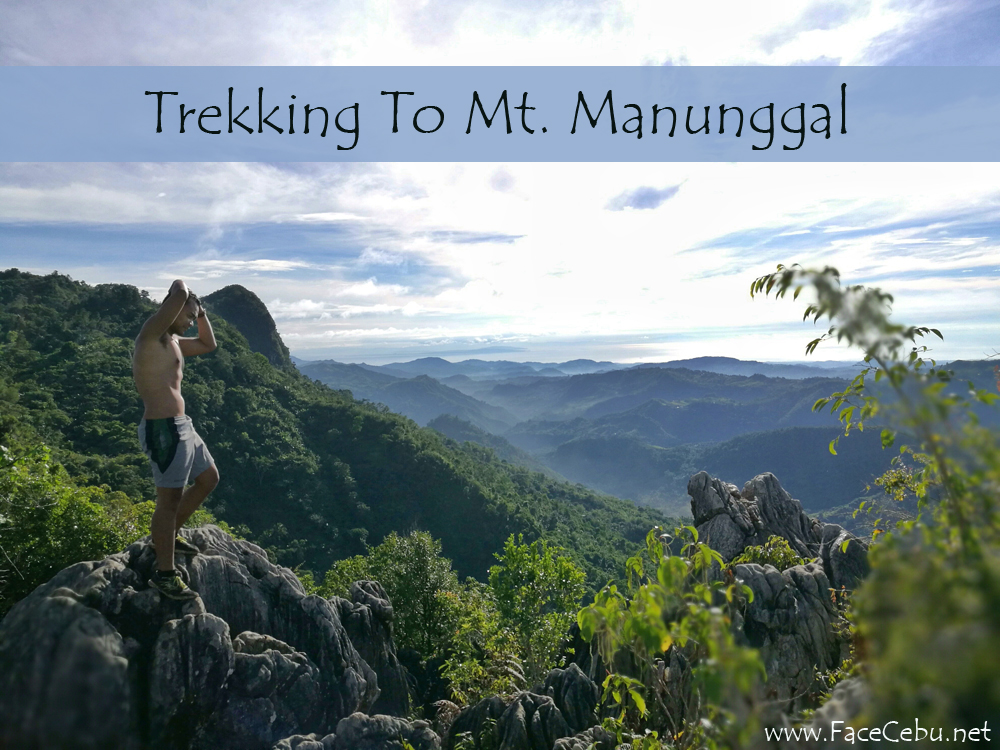 Blogger, Mark Monta at the top of Mt. Manunggal